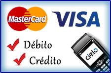 Resultado de imagem para aceitamos cartões de debito e credito